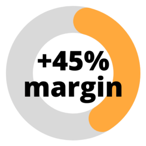 45% additional margin